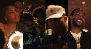 capturas de video: Nicki Minaj (Izquierda), Diplo(Centro-izquierda), Jillionaire (centro), Walshy Fire (centro-derecha) y PARTYNEXTDOOR (derecha)