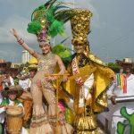 Los Reyes del Carnaval durante el tradicional desfile.