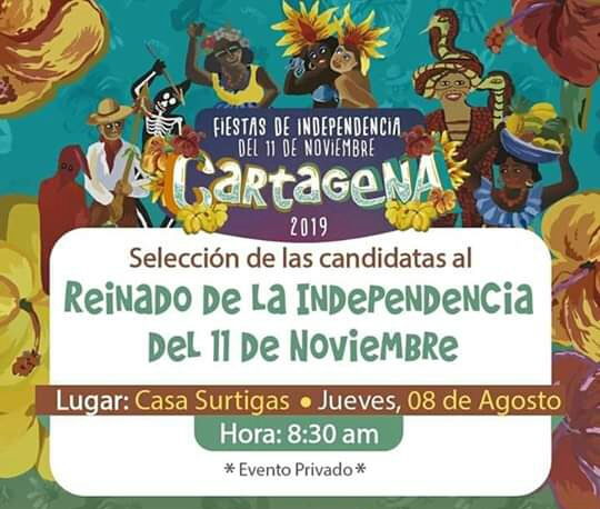 Cartagena  a las puertas de conocer las candidatas oficiales al reinado de independencia 2019