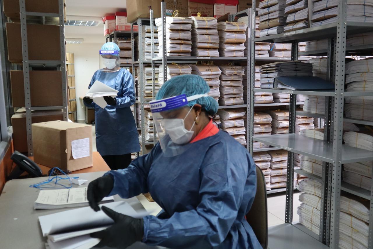 Protocolo de bioseguridad de archivos en la Secretaría de Hacienda es modelo para todo el distrito de Cartagena