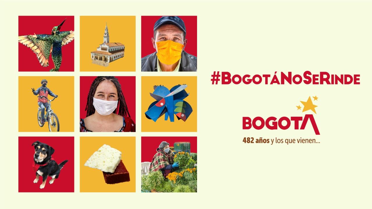 #BogotáNoSeRinde Este 6 de agosto, únete a conmemorar los 482 años de nuestra #Bogotá, la ciudad de todos los colombianos. @CulturaenBta
