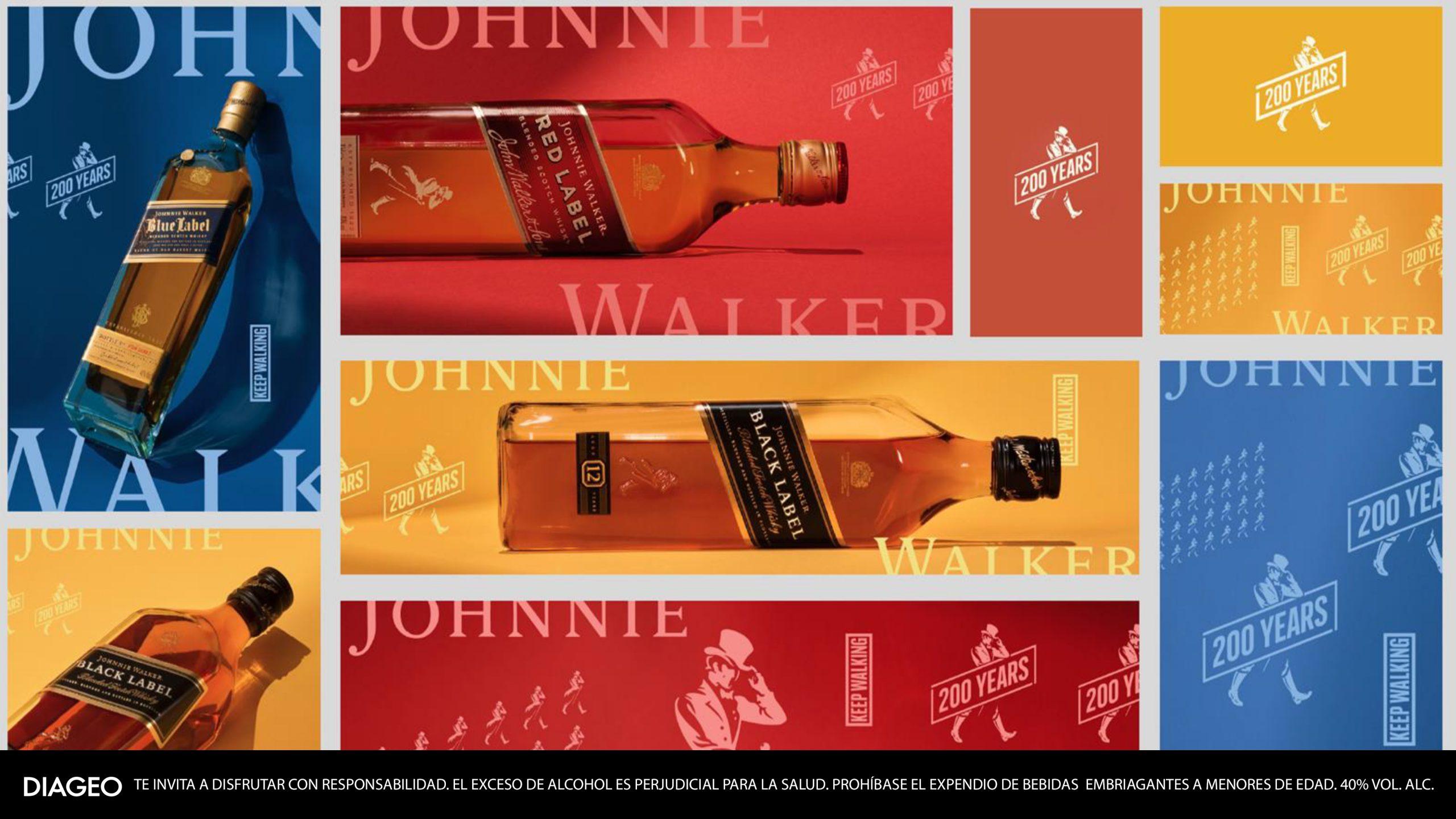 Johnnie Walker cumple 200 años caminando hacia adelante y así será su celebración  @johnniewalker_