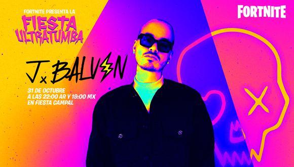 El concierto de Halloween de 'Fortnite' será conducido por J Balvin