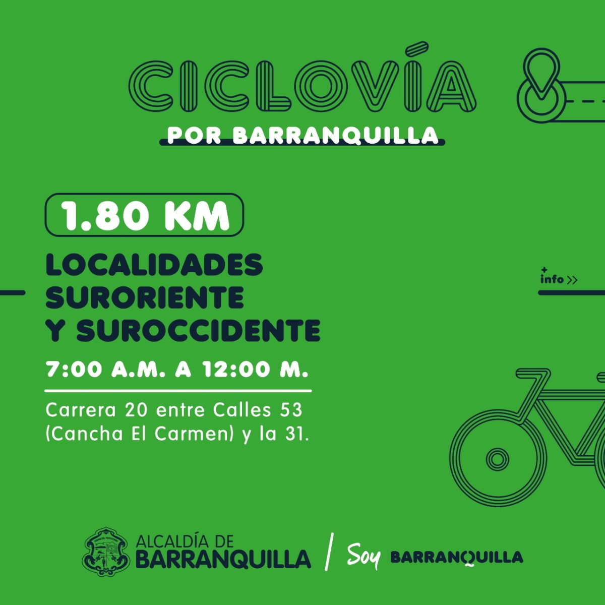Vuelven las ciclovías en Barranquilla