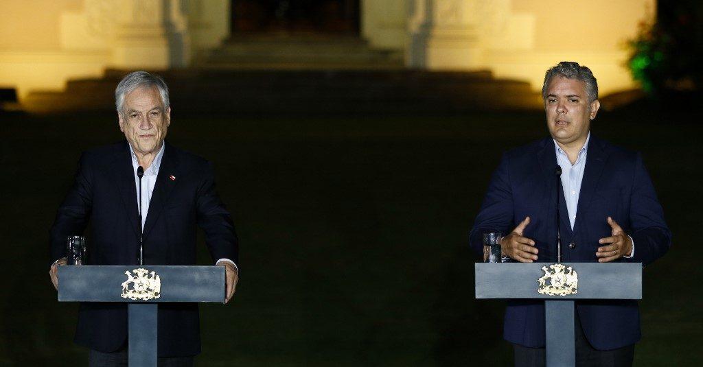 Iván Duque y Sebastián Piñera repasan estrategias frente al COVID-19