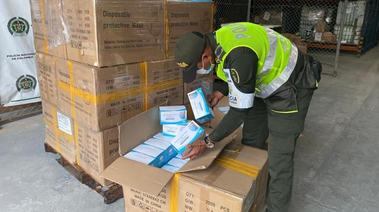 En Cartagena, Policía decomisó 100 mil tapabocas de contrabando