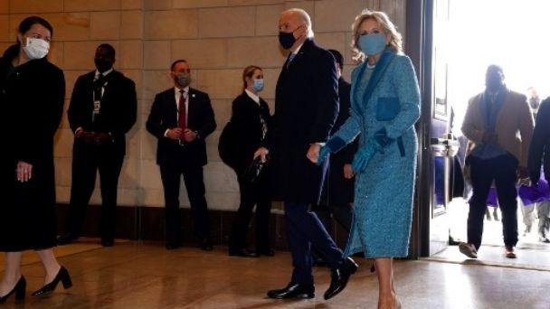 Biden llega al capitolio para jurar como presidente de E.E.U.U.
