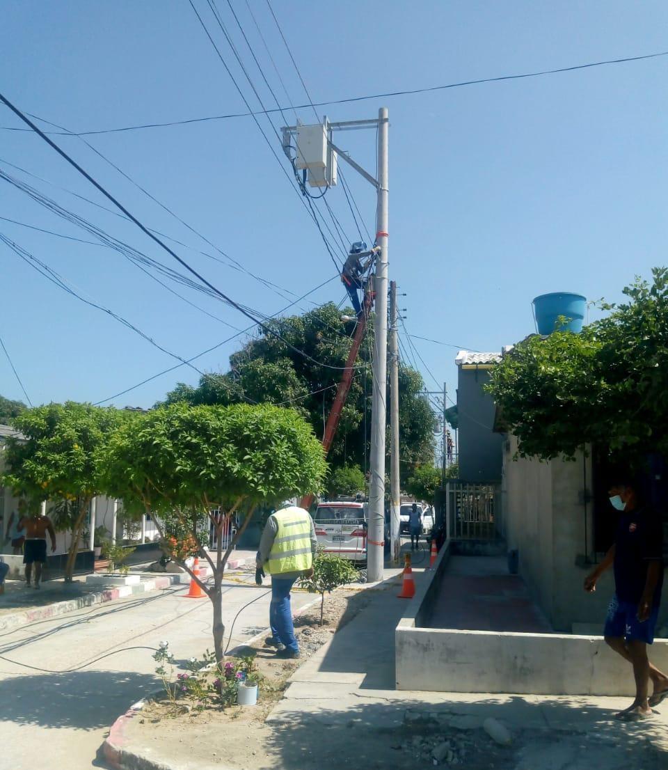 Avanza proyecto de mejora eléctrica  en el barrio Concord de Malambo – @Aire_Energia
