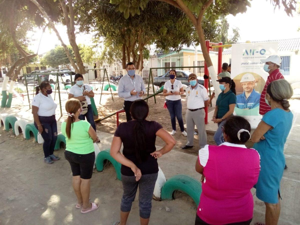 Diálogo social de la empresa Air-e  de la mano con la comunidad