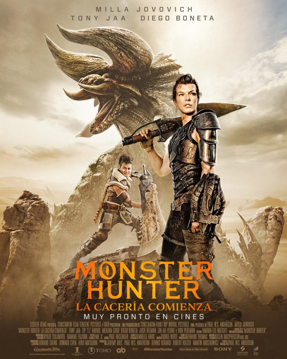 """""""Monster Hunter La Cacería Comienza"""" llega a los cines colombianos este jueves 18 de febrero."""