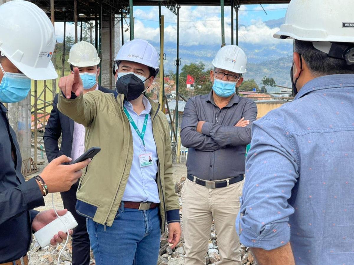 Secretario de Educación adelantó visita técnica a las obras de  la IETI Marco Aurelio Bernal de Garagoa
