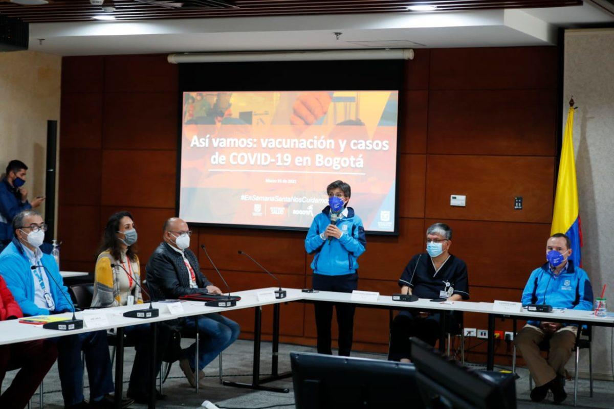 Mesa intersectorial de Salud entregó balance de COVID-19 en Bogotá