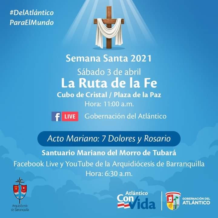 Sábado Santo, desde el cubo de Cristal de la Plaza de Paz en Barranquilla – @gobatlantico