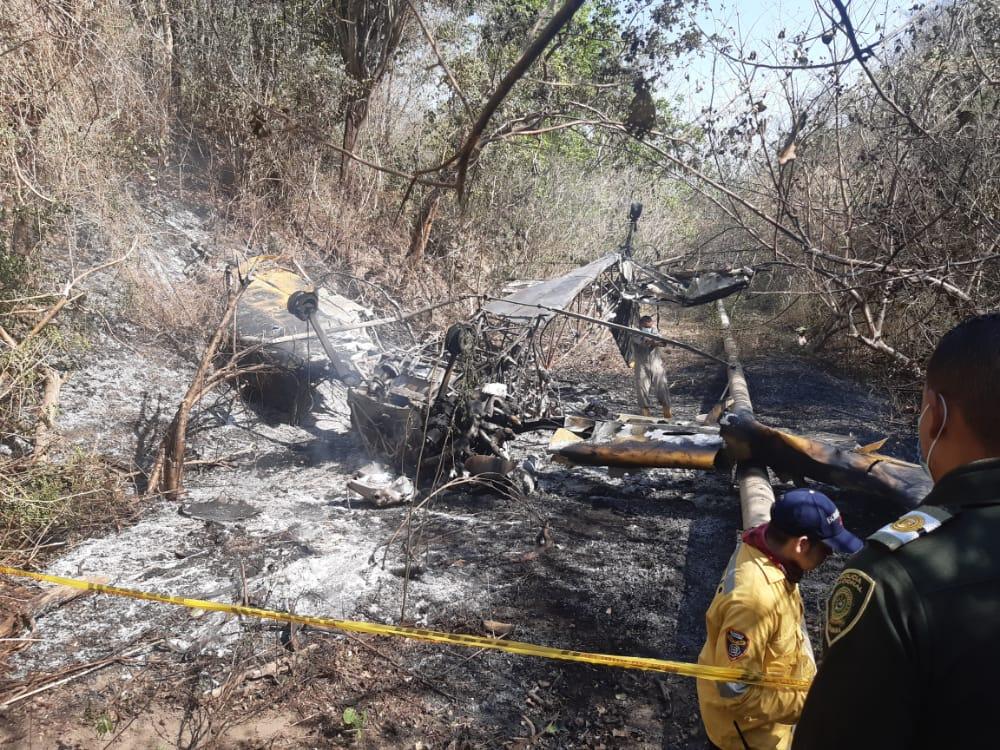 Piloto sobrevivió en accidente aéreo