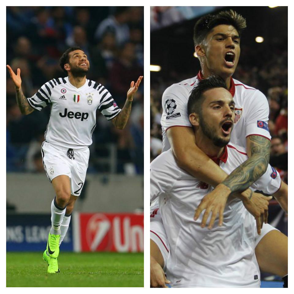 Champions League: Juventus y Sevilla sacaron ventaja