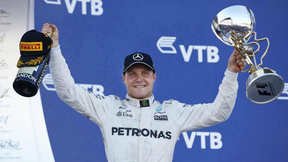 Bottas ganó  el Gran Premio de Rusia
