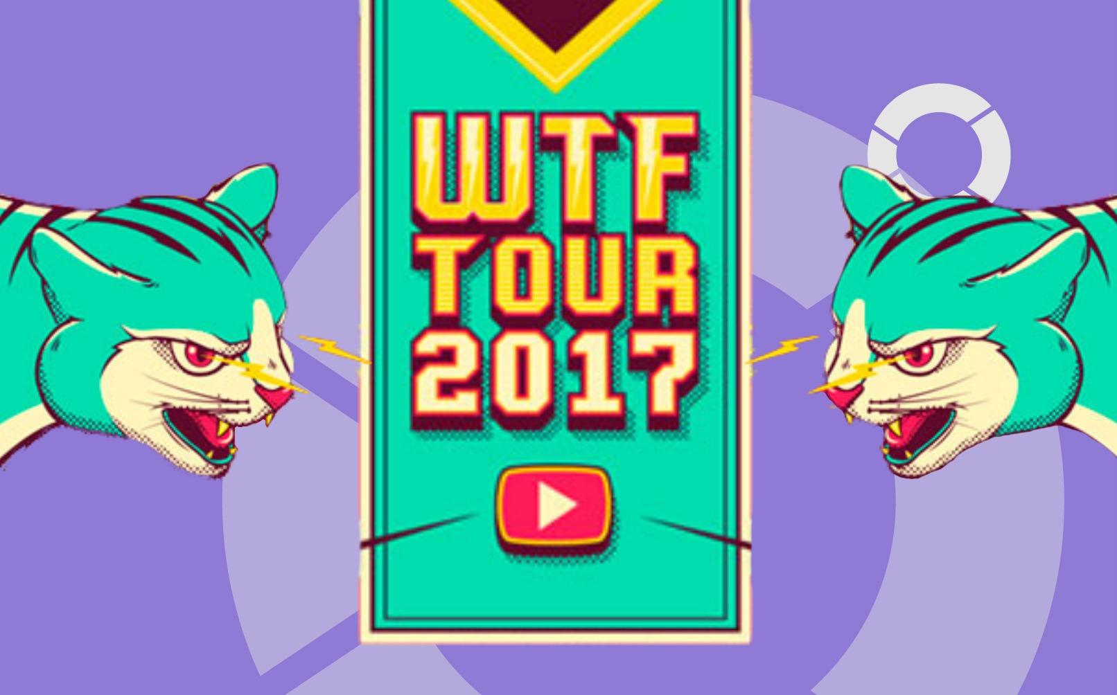 WTF tour, la gira que reunirá los Youtubers mas influyentes de Colombia