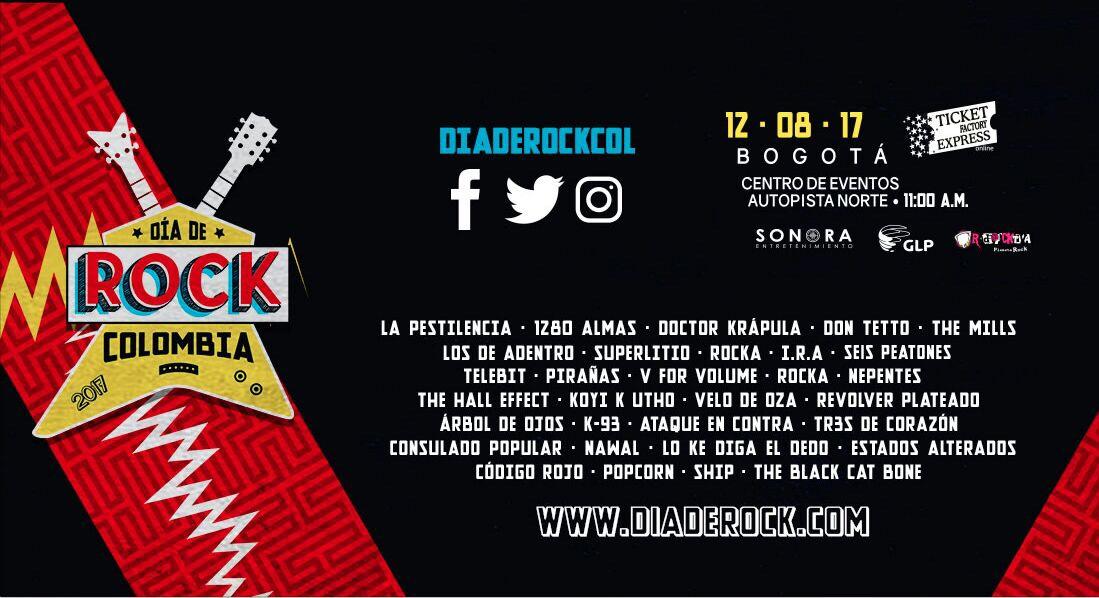 En un mes llega a la ciudad de Bogotá el 'Día del Rock Colombia 2017'