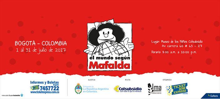 Llegó 'El mundo según Mafalda' a Bogotá