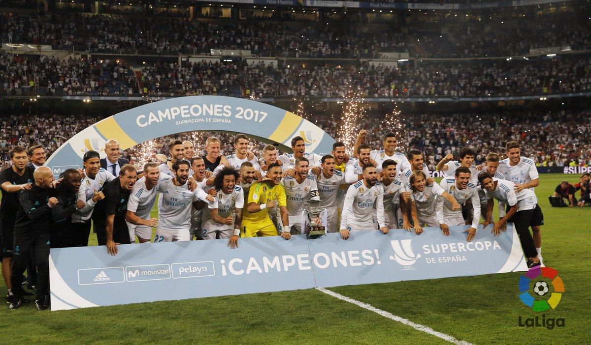"""Un Real Madrid """"sobrado"""" puso a Bailar Merengue al Barcelona, Campeón de la Supercopa de España!!!"""