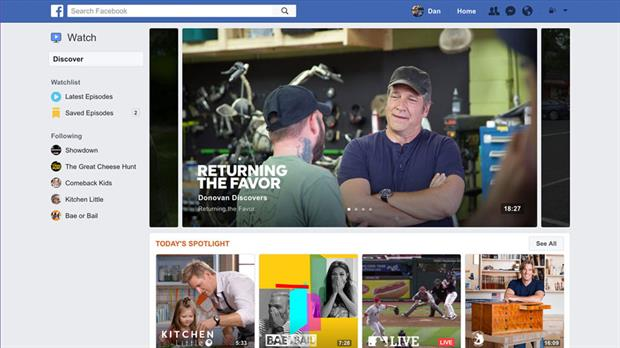 Facebook Watch, el nuevo servicio de streaming de Facebook