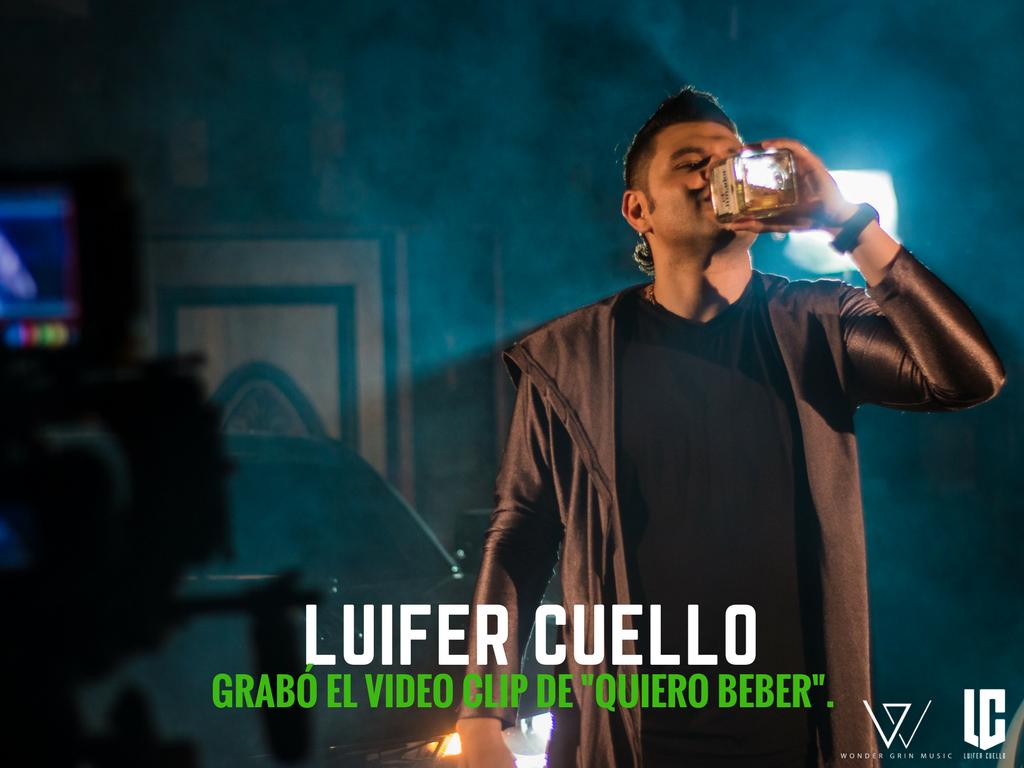 """Luifer Cuello grabó video de """"Quiero Beber"""""""