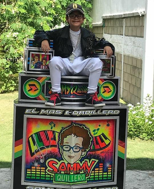 Sammy Quillero, el Niño que 've' su mundo en la Música