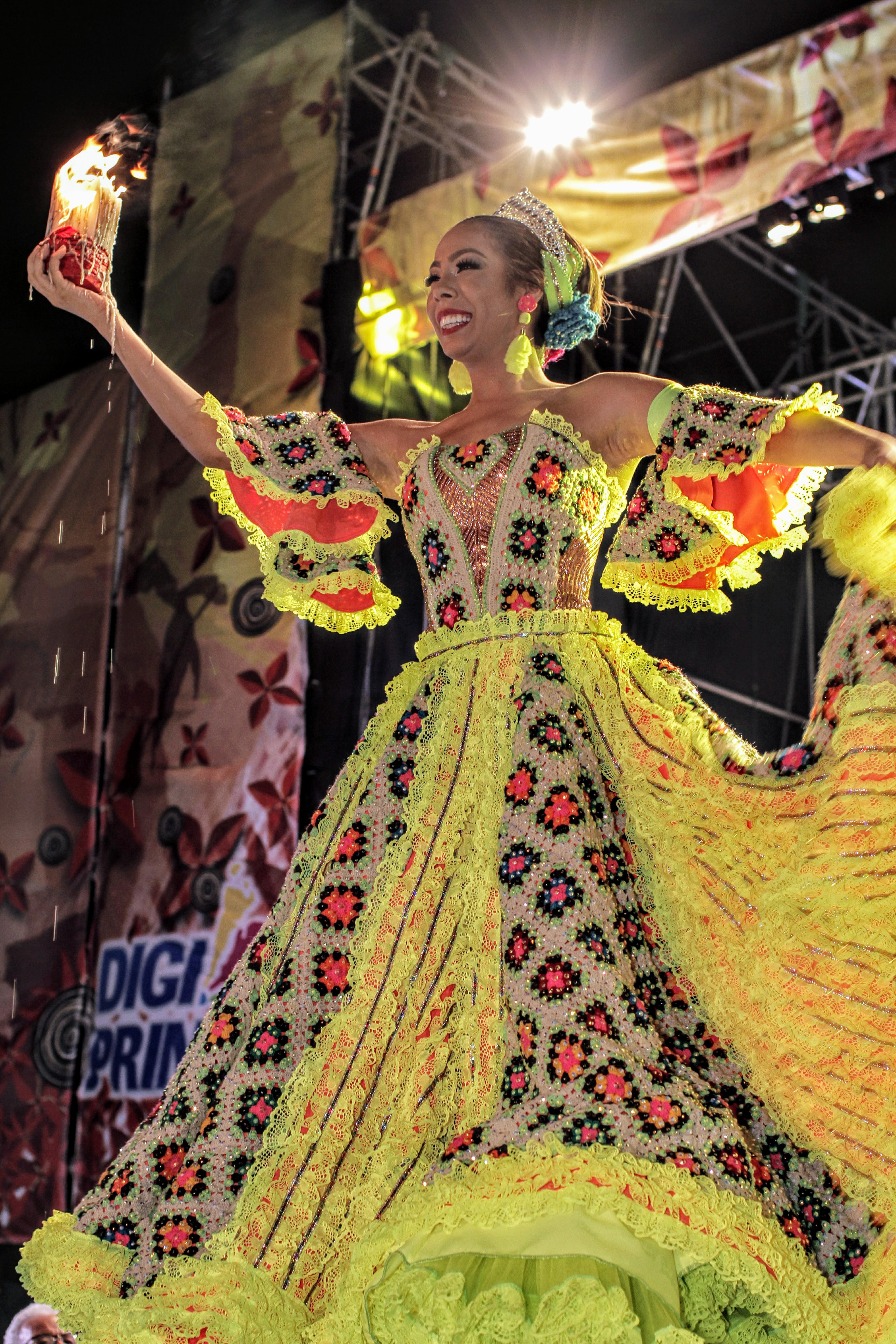 Maria Alejandra Borrás en el Reinado del Millo y Sirenato de la Cumbia