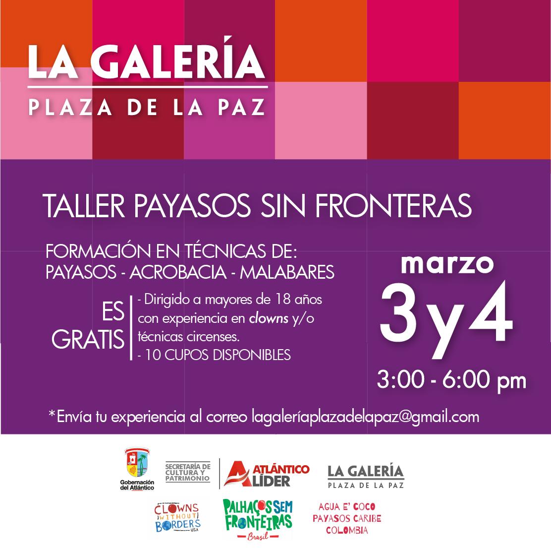 La Galería Plaza de la Paz abre convocatoria para Formación de Payasos