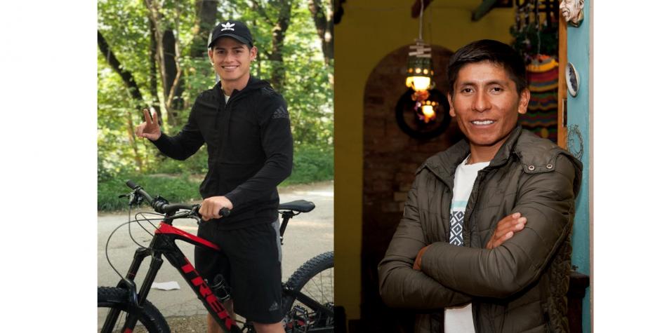 "Nairo Quintana invita a James Rodríguez a ""pedalear"" por Boyacá"