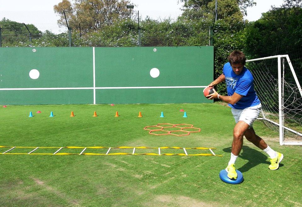 Del Potro empezó su preparación para Wimbledon