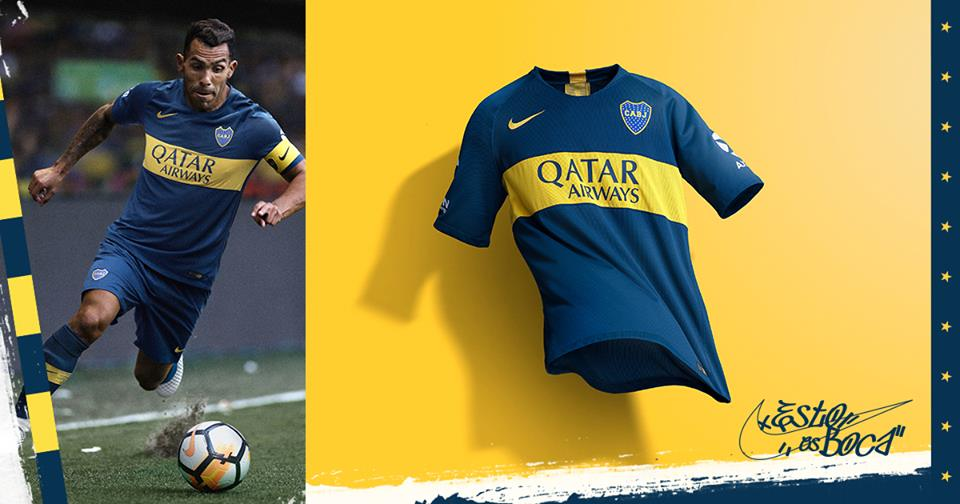 La nueva camiseta del equipo Boca Juniors