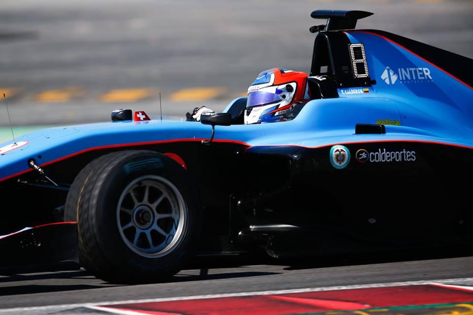 Calderón luchó por los puntos en la GP3