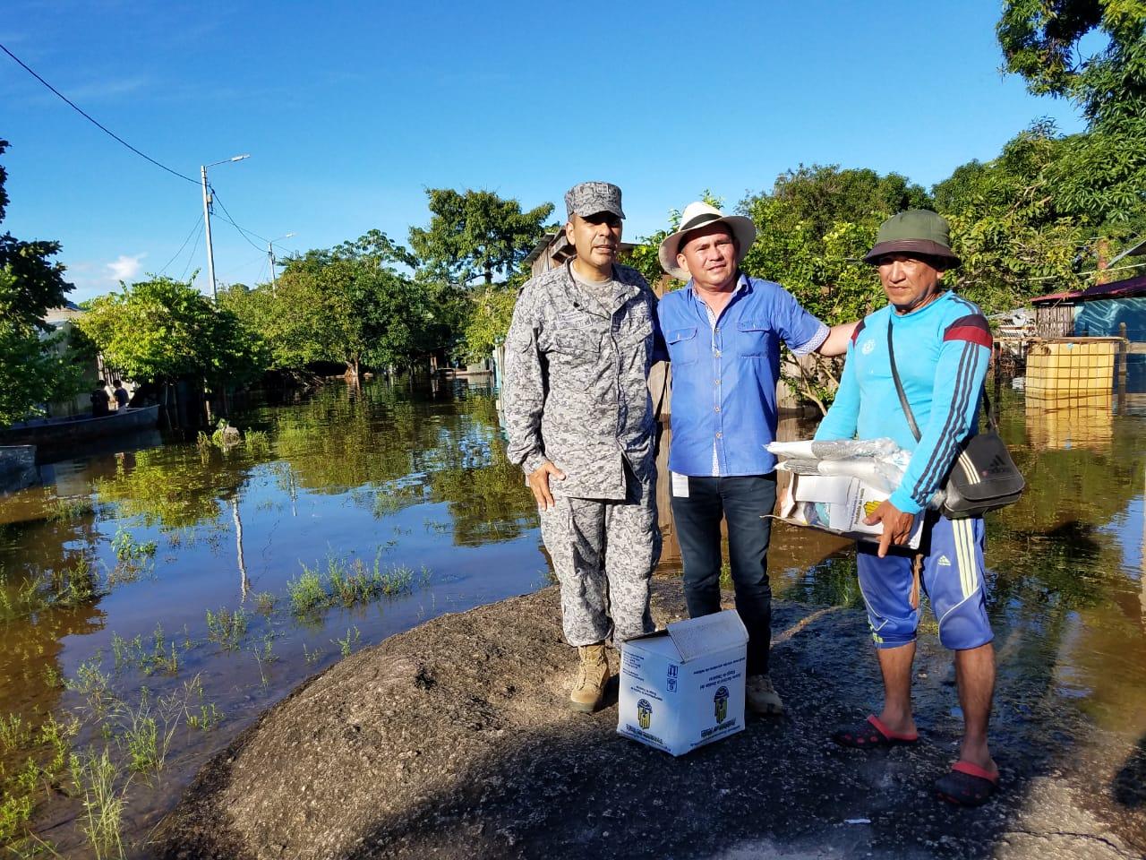 Fuerza Aérea Colombiana transportó ayudas humanitarias a afectados por lluvias en Garcitas, Vichada