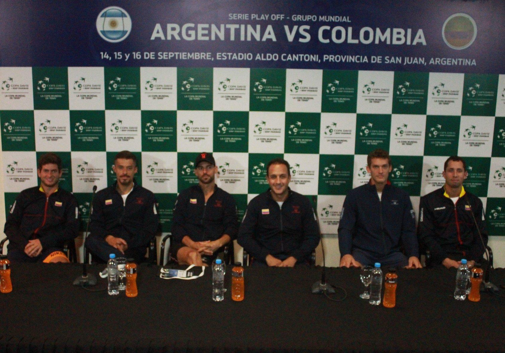 Tenis: Copa Davis: listo el sorteo para la serie de Argentina-Colombia