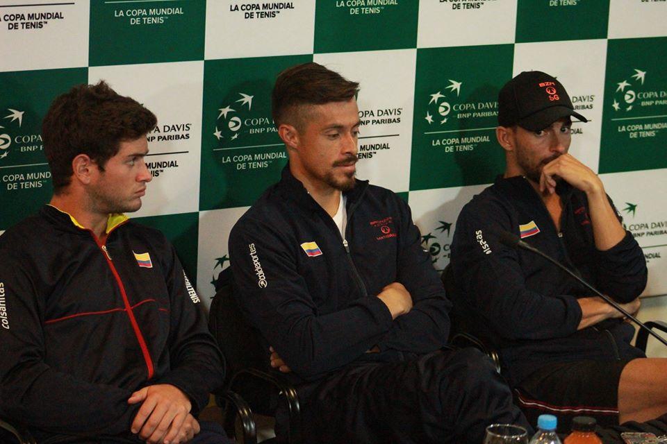 Tenis: Copa Davis: el primer día de la serie Argentina-Colombia