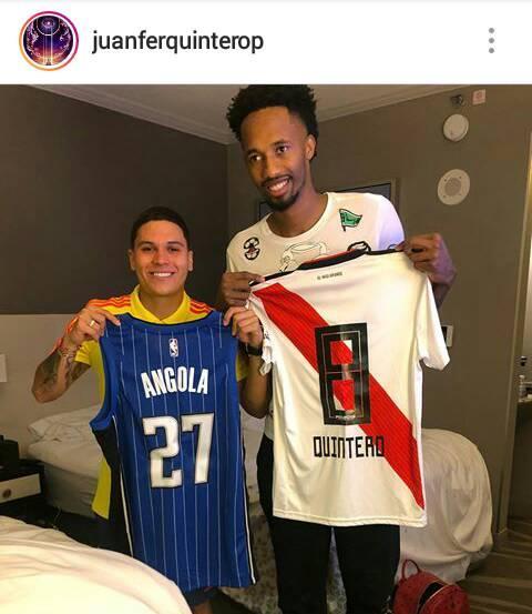 Quintero apoyó públicamente al primer colombiano que jugaría en la NBA