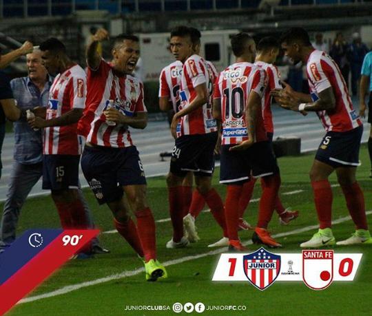 Conmebol Sudamericana: Júnior clasifica por primera vez en su historia a la final de un torneo internacional