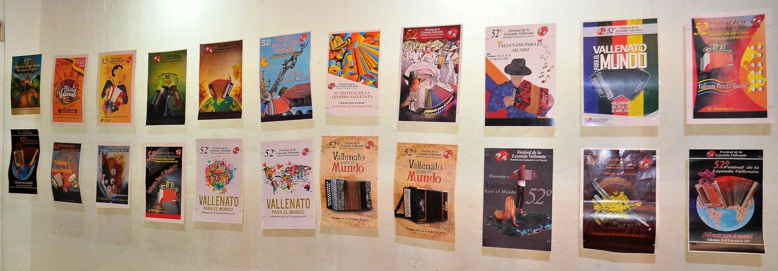 Se abre exhibición de los afiches postulados al 52° Festival de la Leyenda Vallenata, 'Vallenato para el mundo'