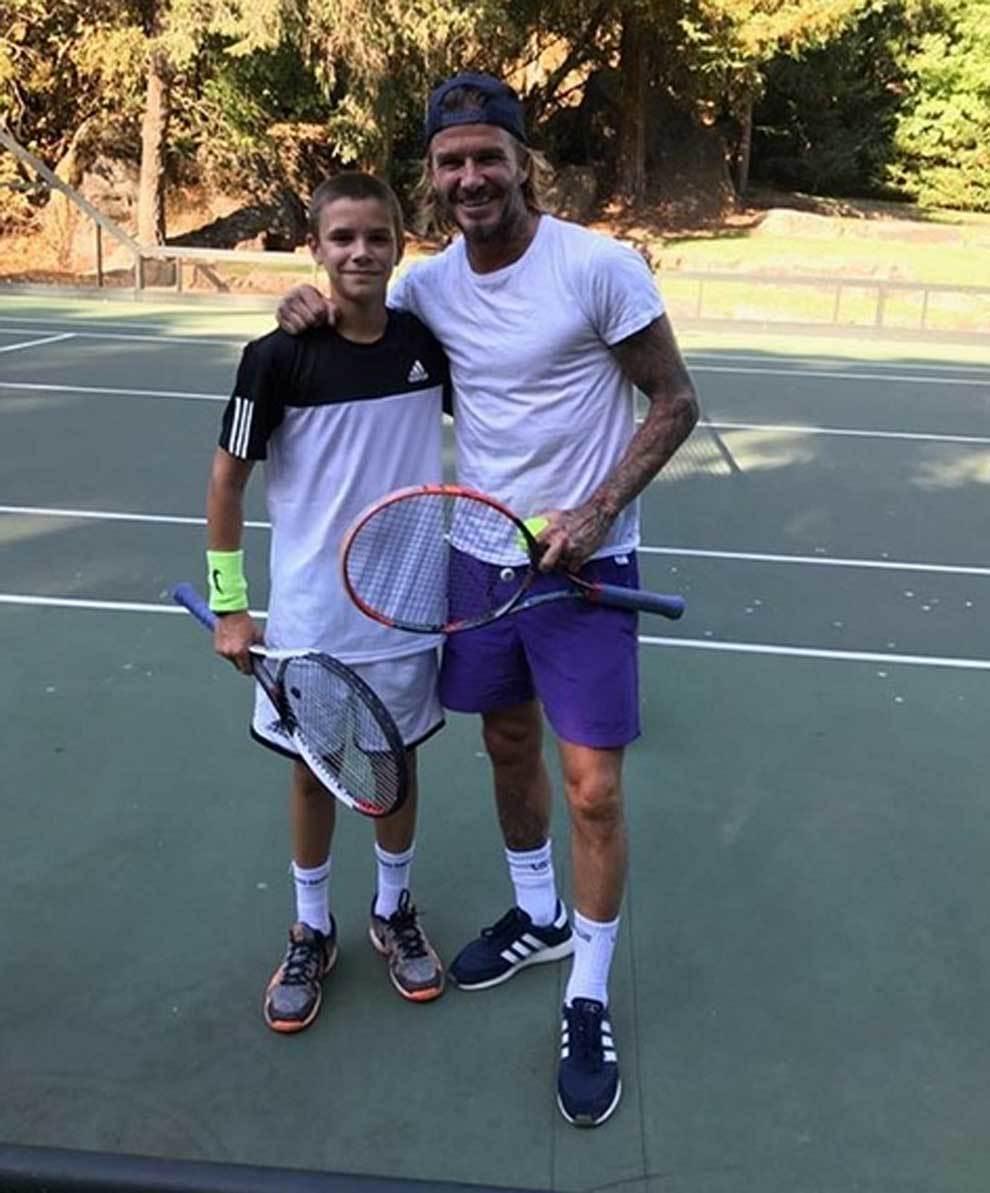 Tenis: la familia Beckham desea convertir a su hijo Romeo en una estrella del deporte blanco