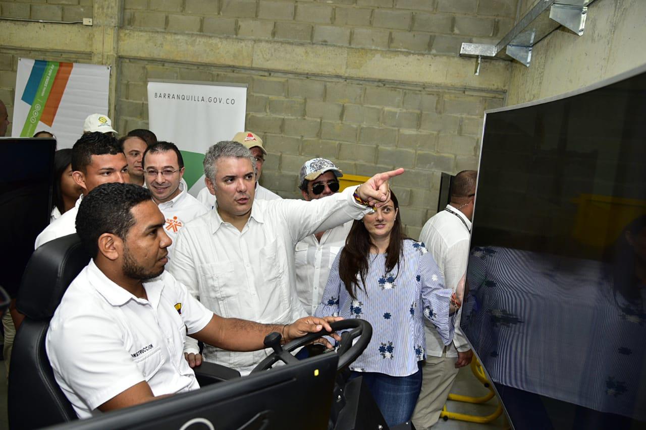 Presidente Iván Duque visitó la nueva sede del SENA en Barranquilla