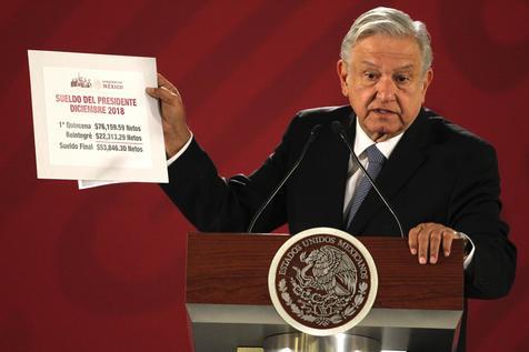 Presidente López Obrador anuncio que salario mínimo en México aumentará 16% en el 2019