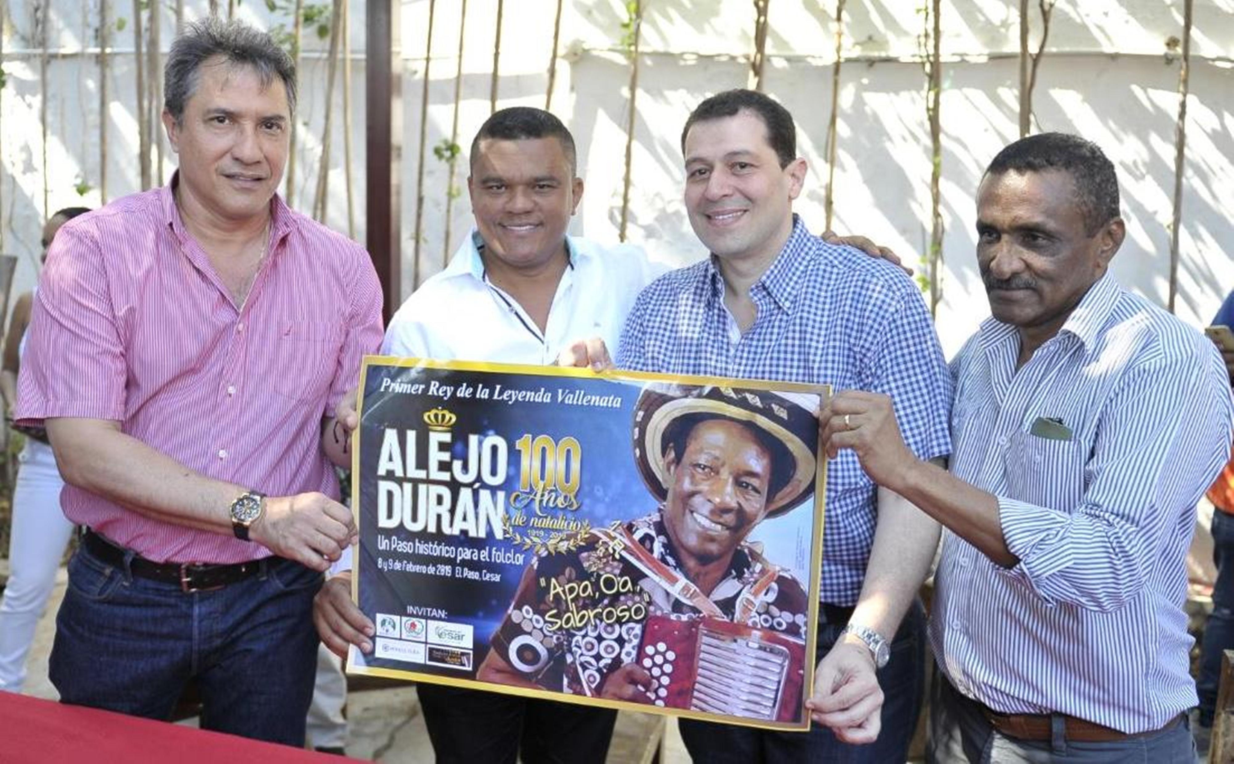 Con honores se conmemorarán los 100 años del natalicio de Alejo Durán