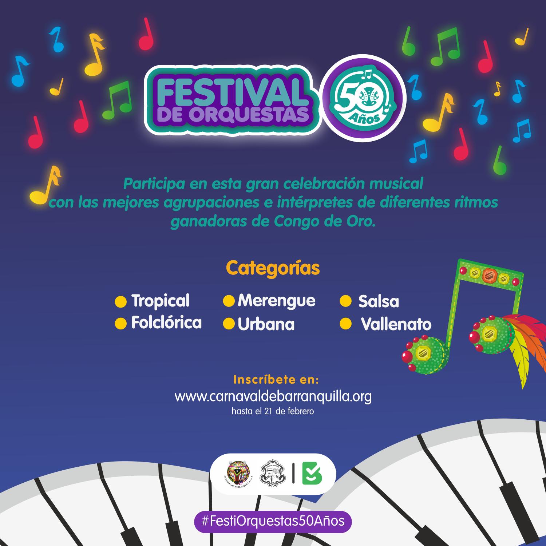 Inscripciones abiertas para Noche de Orquestas, Canción Inédita y Festival de Orquestas 2019