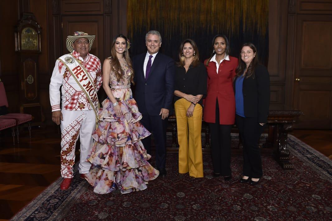 Los Reyes del Carnaval de Barranquilla llenaron de 'Pura Alegría' el Palacio de Nariño