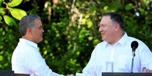 Duque y Pompeo trazan como objetivo reducir en 50% producción de cocaína en Colombia