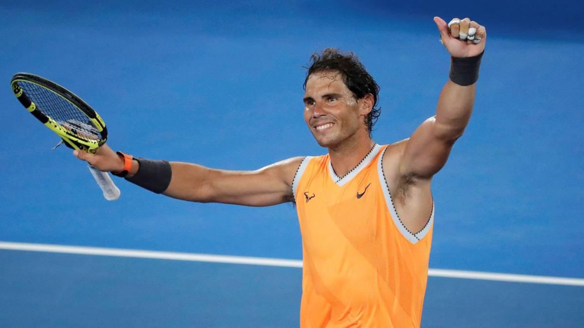 Rafael Nadal avanza a la tercera ronda del Australian Open.