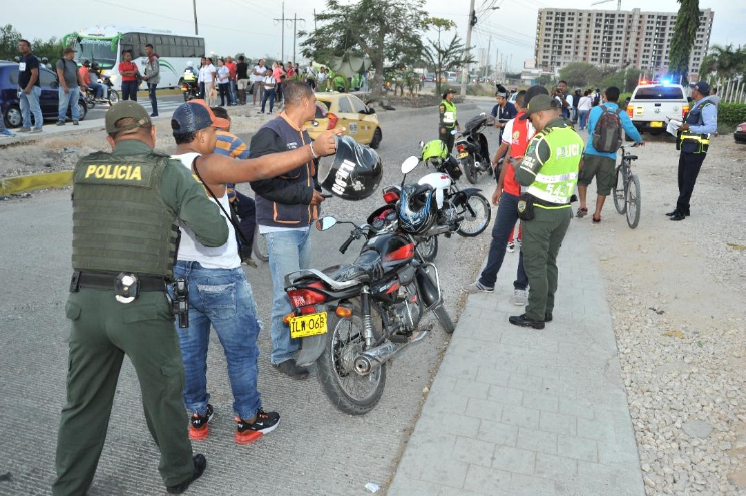 Operativos de control en el sector de La Ye de Olaya Herrera.