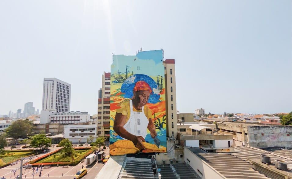 Cartagena tiene el grafiti mas grande del País