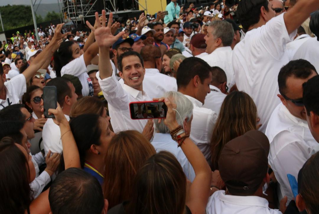 Guaidó llega al concierto «Venezuela Aid Live» en Cúcuta y se junta a Duque, Piñera, Abdo y Almagro